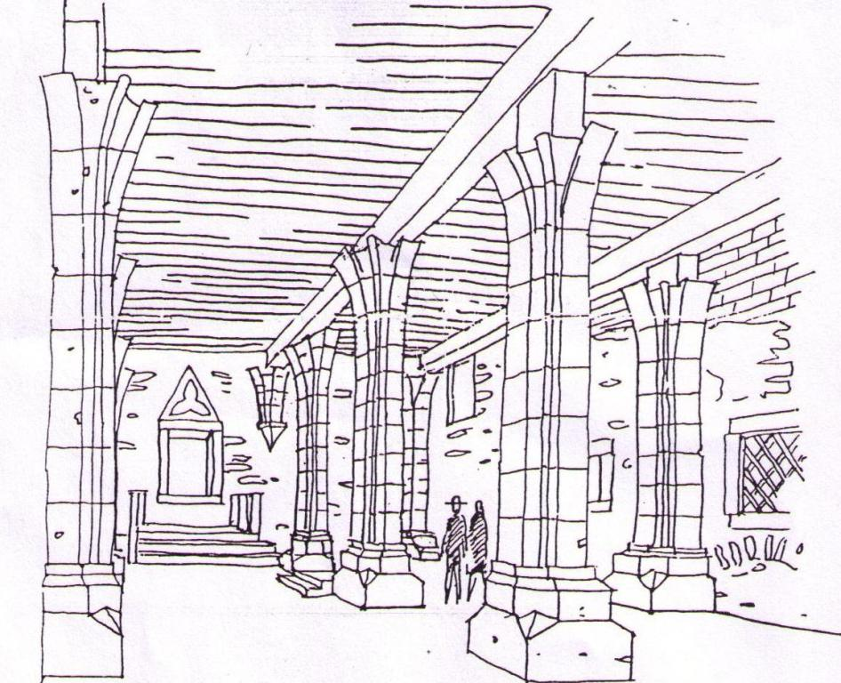 2 - A középkori zsinagóga rekonstruált belső tere