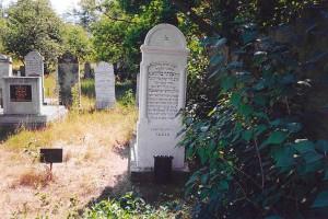 Wieder Sálom sírhelyét a nyíregyházi temetőben egykor vastábla jelezte
