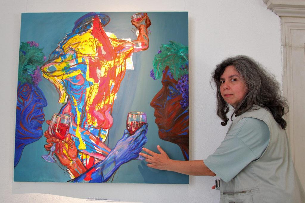 10 - Zvolszky Zita egy festményével