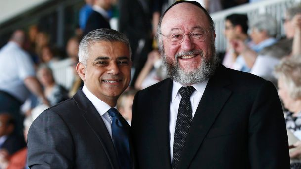 Sadiq Khan and chief rabbi