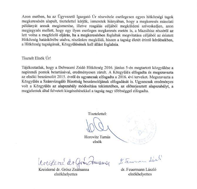 Horovitz levél 3