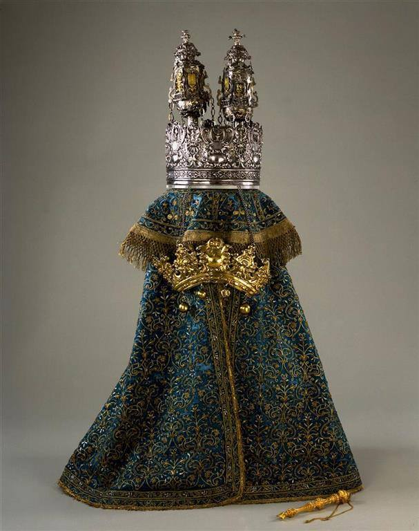 Tóra-szoknya Rómából, 1655 körül, selyem, arany és ezüst fonállal készült hímzés, Israel Museum, Jeruzsálem ©The Israel Museum, Jerusalem