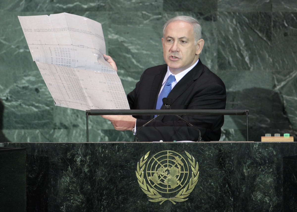 israeli-prime-minister-benjamin-netanyahu-holds-document-outlining-plans-auschwitz-death-camp