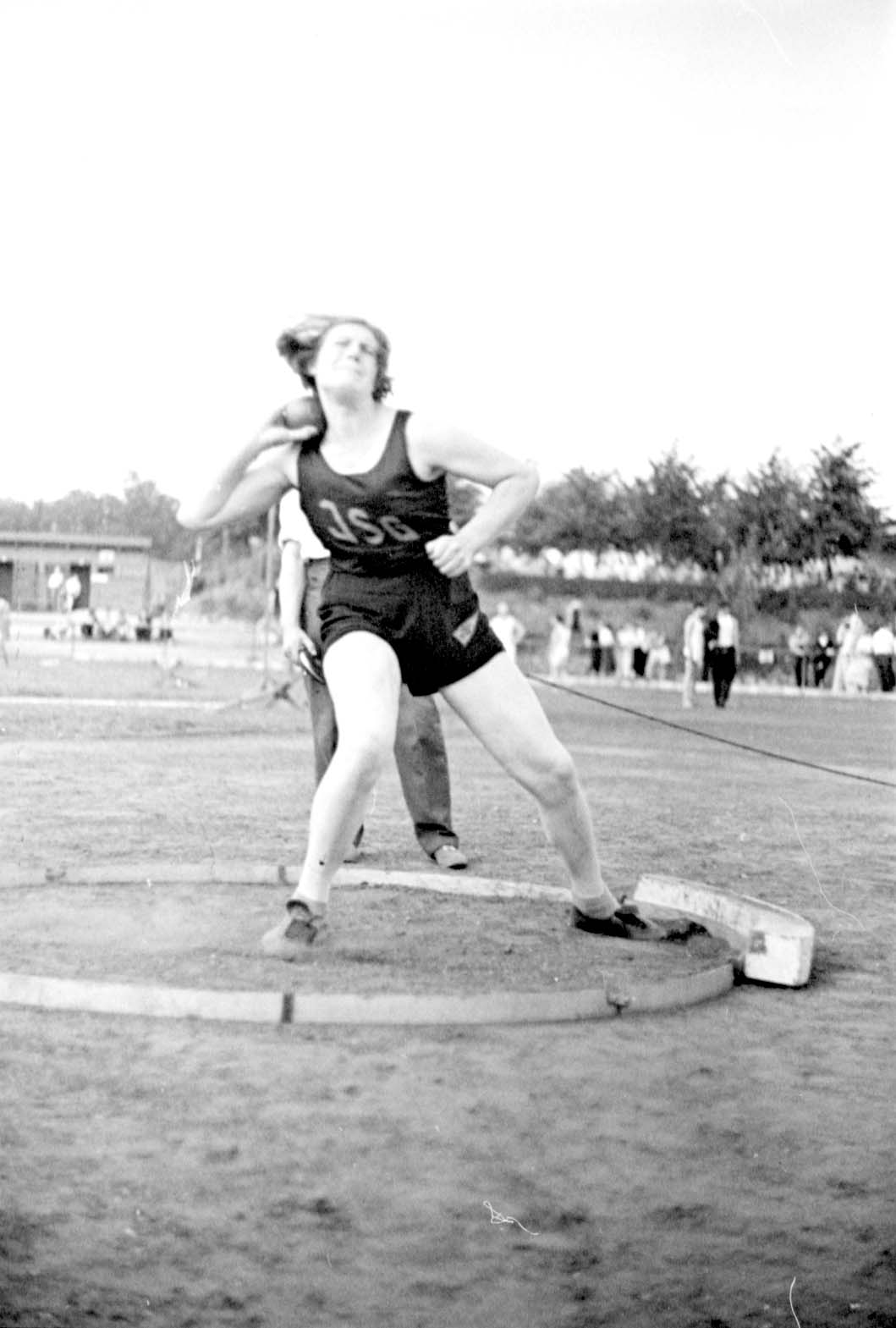 Berlin, Germany, 04/07/1937, Ingeborg Mello, winner of the shot-put competition at a Jewish sports tournament.
