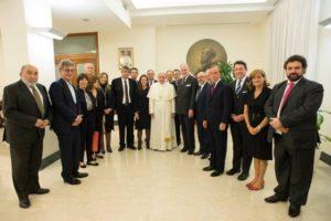 Ferenc pápával találkozott a Mazsihisz elnöke