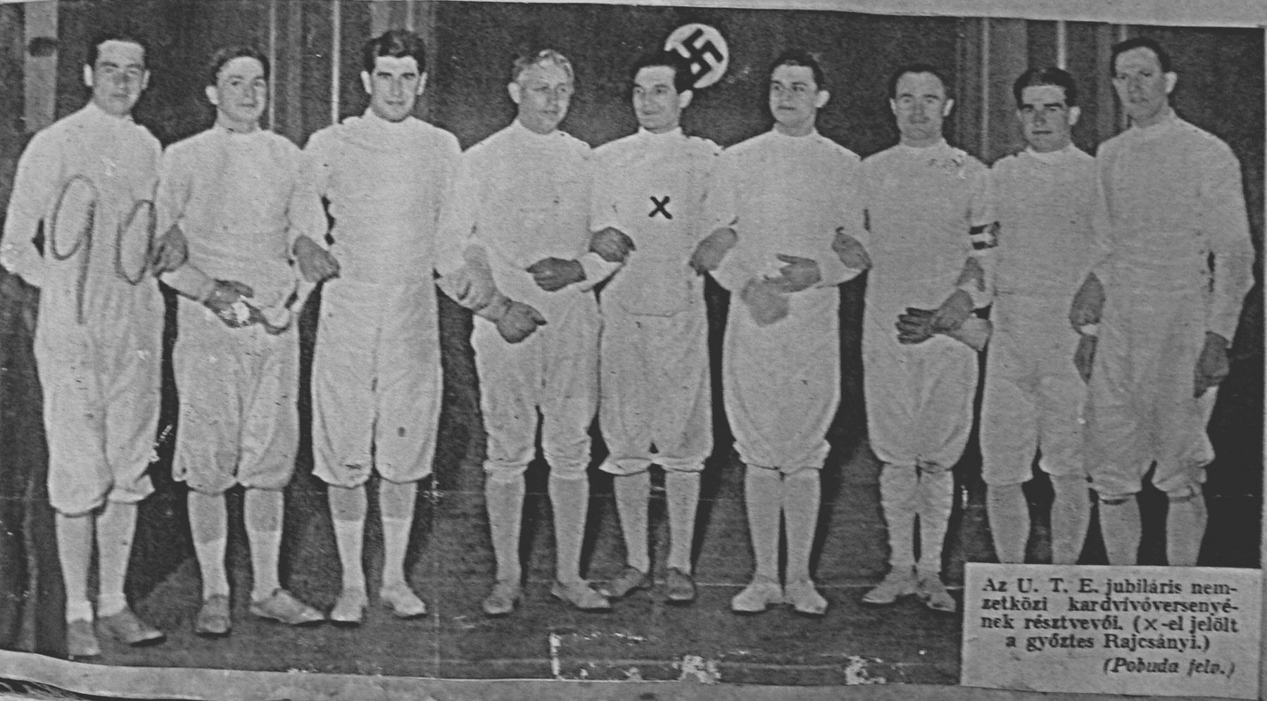 kabos-balrol-a-harmadik-az-ute-1935-os-jubileumi-nemzetkozi-kardversenyen-a-klub-fennallasanak-50-eveben