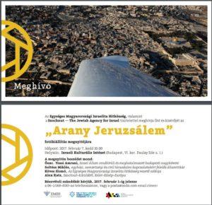 Arany Jeruzsálem – Fotókiállítás
