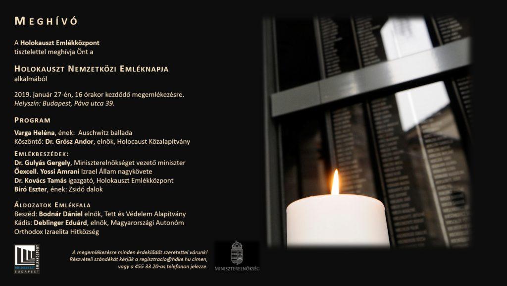 A Holokauszt Nemzetközi Emléknapja